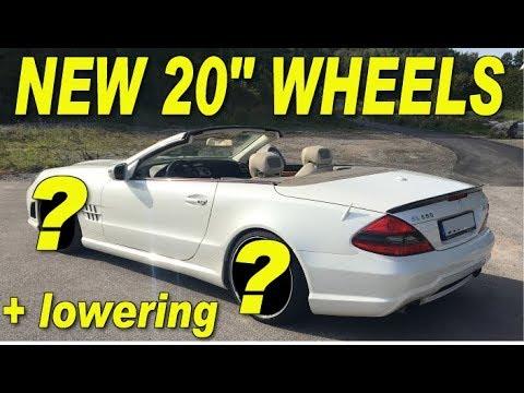 "COPART REBUILD of Mercedes SL550 20"" wheels + lowering kit Prt2"