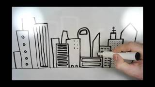 How To Draw A Cityscape!! EASY!
