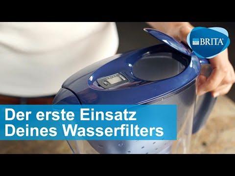 BRITA Wasserfilter – Vorbereitung und Einsatz der Kartusche