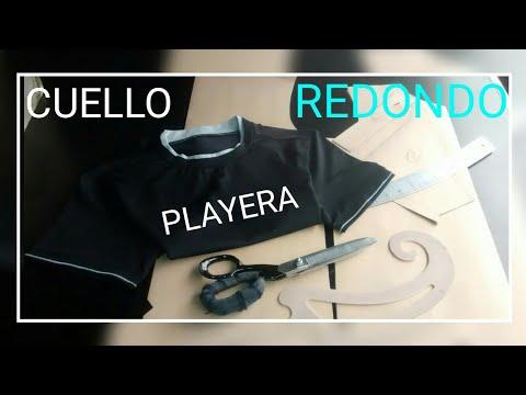 Molde de playera cuello Redondo. PASO A PASO!! ( Video Sugerido)