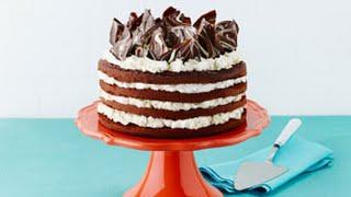 Triple-Chocolate Layer Cake Recipe