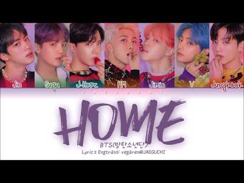 Bts 방탄소년단 Home Color Coded Lyrics Engromhan가사