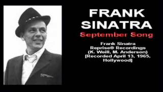 Frank Sinatra   September Song Reprise 1965   YouTube