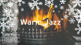🎄 Christmas Silent Jazz Playlist - Smooth Winter Jazz Music with Fireplace