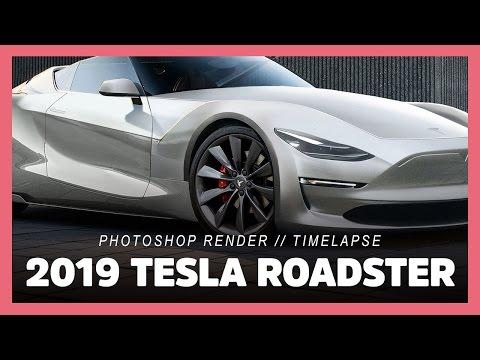Tesla Roadster Rendered As The Open Top Supercar Elon Musk