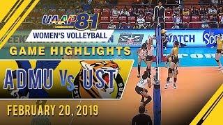 UAAP 81 WV: ADMU vs. UST | Game Highlights | February 20, 2019