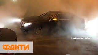 Прорыв трубы в Киеве: улицу залило кипятком, авто утонуло