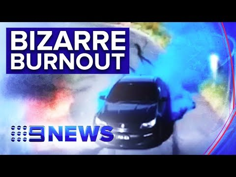 Gender reveal stunt ends with car engulfed in flames | Nine News Australia