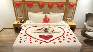 Anniversary Room Decoration Ideas Simple | Romantic Decoration For Bedroom | Romantic Decoration ❤