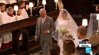 UK Royal Wedding: Bride Meghan Markle walks down the aisle - Video Youtube