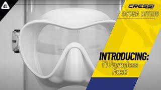 Детская маска для плавания Cressi Sub F1 Junior желтый от компании Магазин Calipso dive shop - видео