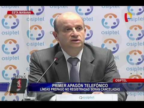 Osiptel: Líneas prepago no registradas serán canceladas