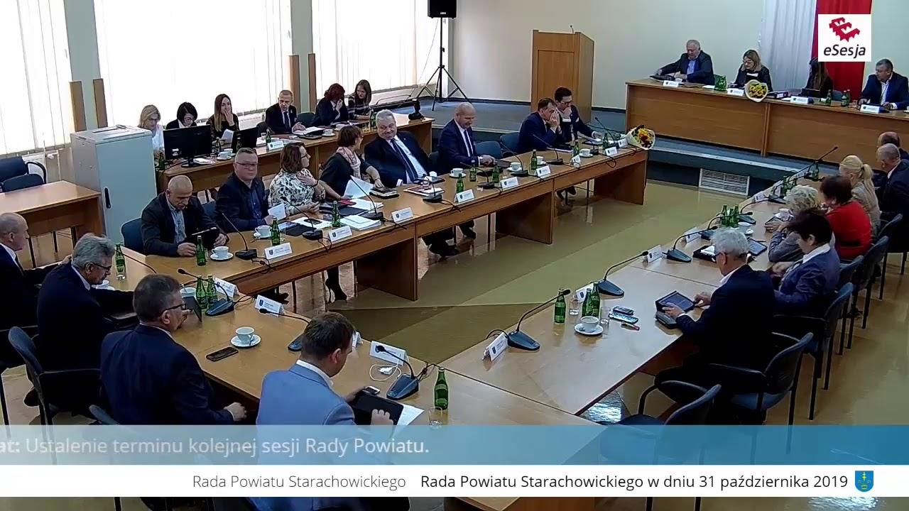XIV Sesja Rady Powiatu w Starachowicach 31.10.2019r.