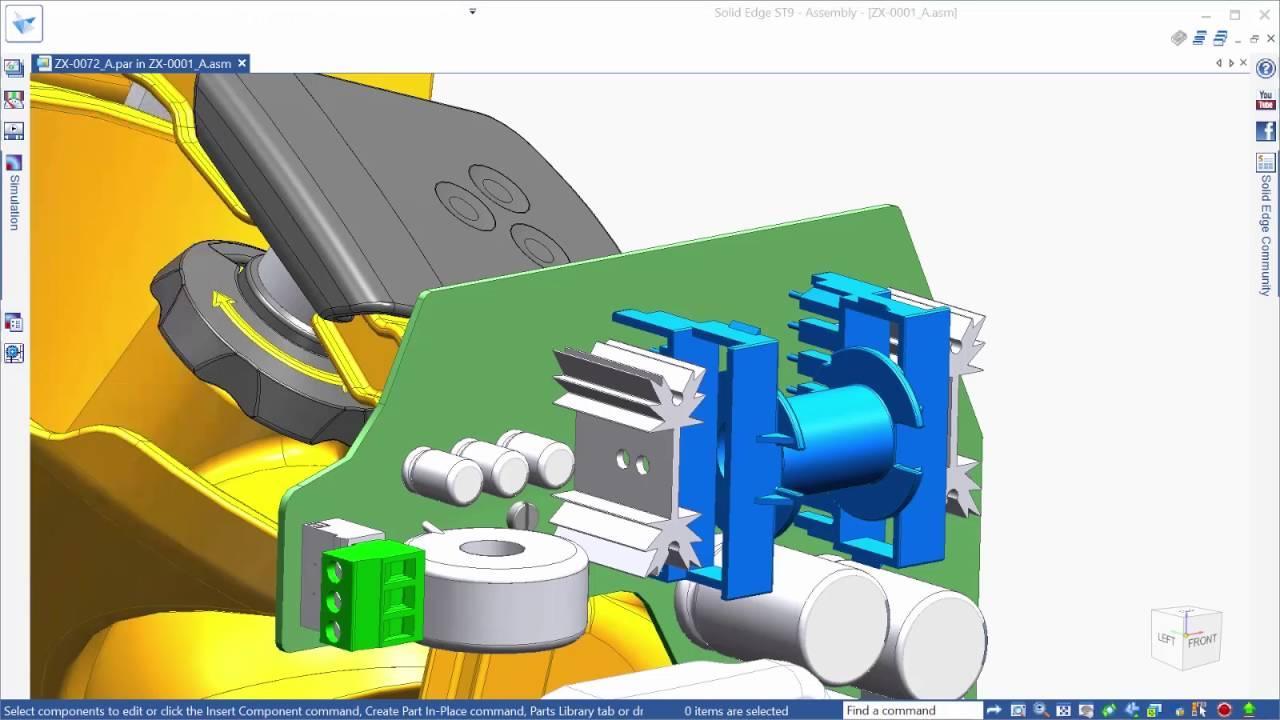 Vorschaubild: Solid Edge ST9: Erweiterte Modelliermöglichkeiten für Einzelteile