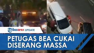 Detik-detik Mobil Bea Cukai Diserang saat Buntuti Pengedar Rokok Ilegal, Ditabrak dan Dilempar Batu