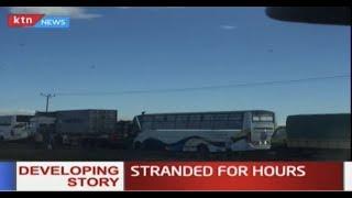 Huge traffic jam along Nairobi-Nakuru highway leaves hundreds of motorists stranded