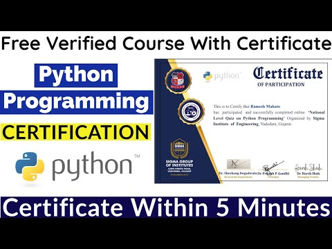 Python Programming Free Certification   Free Courses With Certificate
