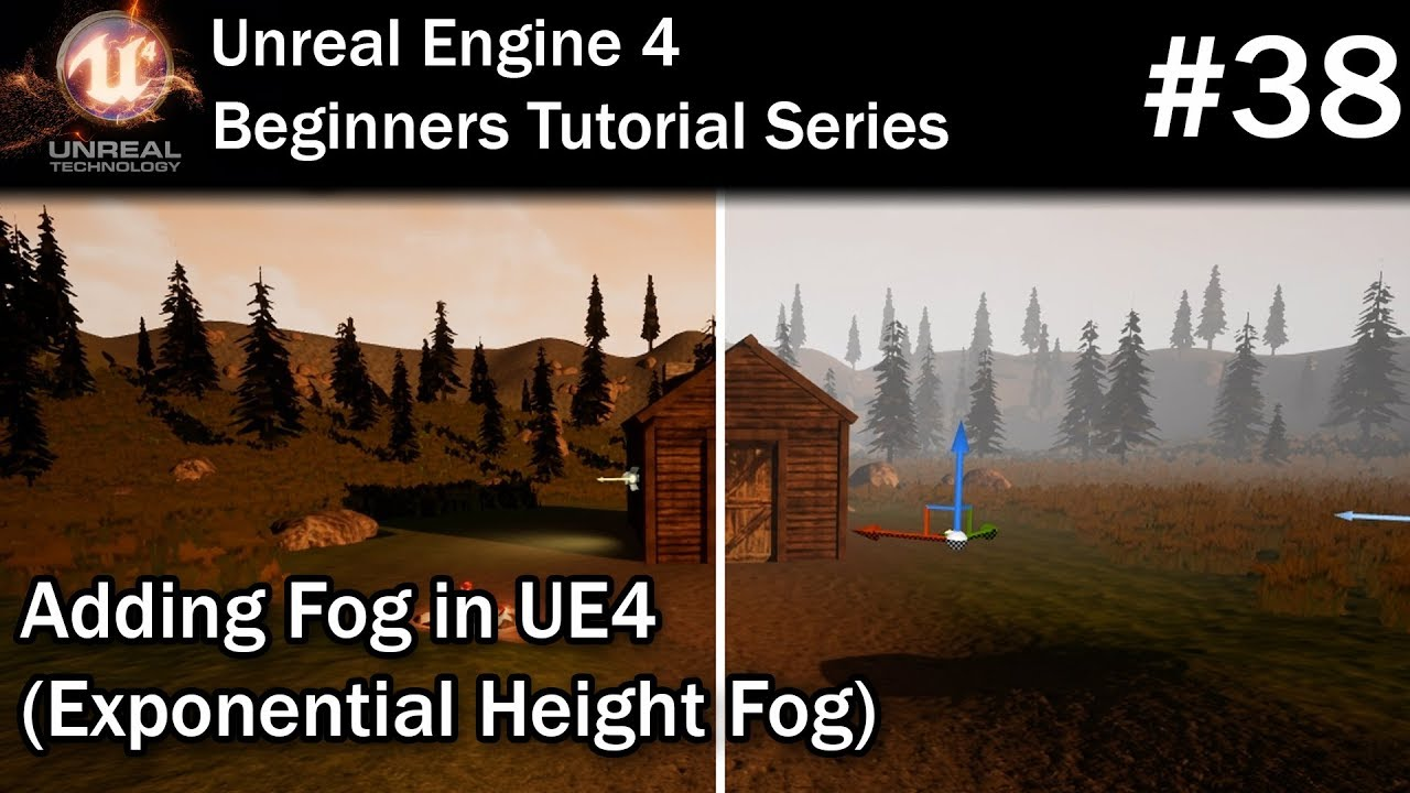 #38 Adding Fog to a Level in UE4 | Unreal Engine 4 Tutorial for Beginners