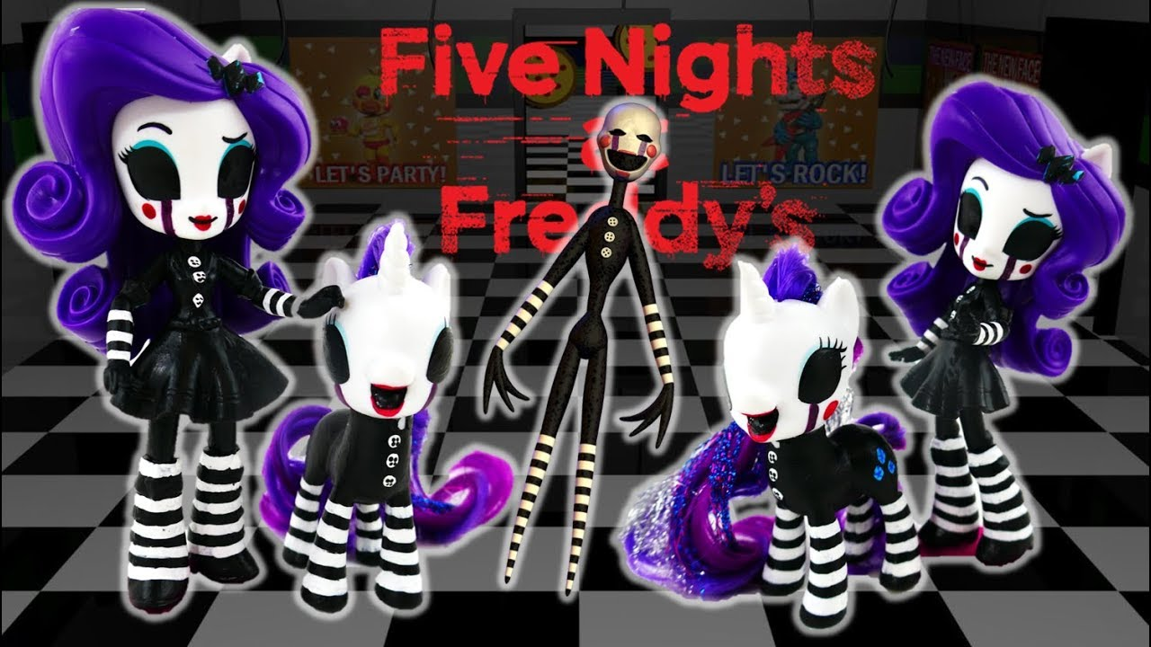 Custom FNaF Puppet Marionette Rarity Pony - Five Nights at Freddy's  DIY Toy Tutorial