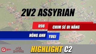 U98 cõng tạ Chim Sẻ Đi Nắng lệch đôi vai | AoE Highlight | GameTV