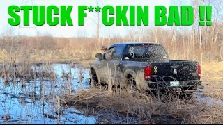 GOT STUCK SO BAD IN A SWAMP  *LEFT TRUCK OVERNIGHT*
