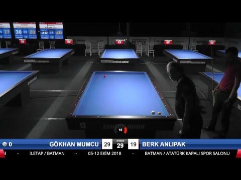 GÖKHAN MUMCU & BERK ANLIPAK Bilardo Maçı - 2018 ERKEKLER 3.ETAP-2.TUR