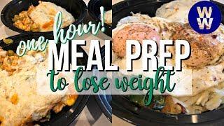 ONE HOUR Meal Prep | Chicken Shepherd's Pie, Breakfast Bowls | WW Freestyle