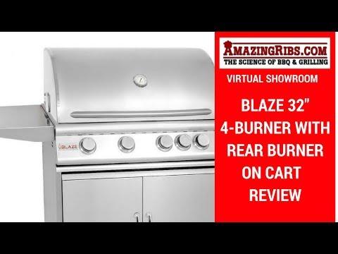 AmazingRibs.com Virtual Showroom – Blaze 32″ 4-Burner with Rear Burner on Cart