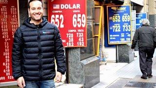 Trocando dinheiro em Santiago do Chile, casas de câmbios.