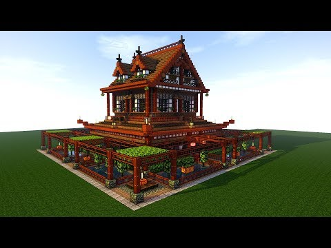 Japanese House Temple Speed Tutorial Minecraft Project