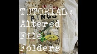 Craft With Me Tutorial Altered File Folders PART 1