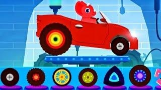 Car Driving For Kids Monster Truck And Ambulance - Dinosaur Videos For Children