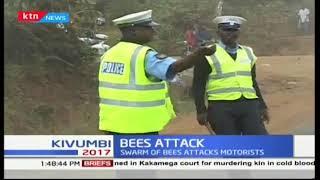 A swarm of bees attack after crash along Embu-Kiritiri road following an accident