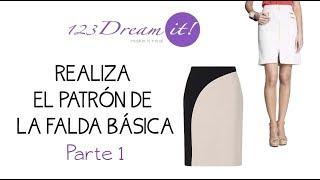 Patrón de falda básica a tu medida - Parte 1.