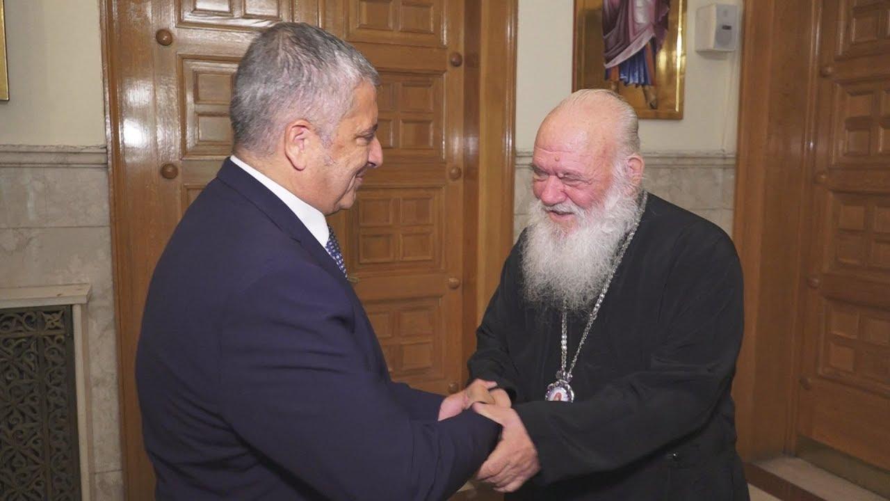 Συνάντηση Αρχιεπίσκοπου Ιερώνυμου με τον Γ. Πατούλη