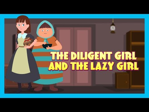THE LAZY GIRL - MORAL STORY FOR KIDS || KIDS HUT STORIES - ANIMATED STORIES FOR KIDS (видео)