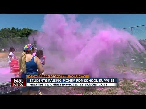 Lee Middle School students in Bradenton find colorful way to raise money for school