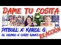 Pitbull x El Chombo x Karol G - Dame Tu Cosita feat. Cutty Ranks [REACCION]