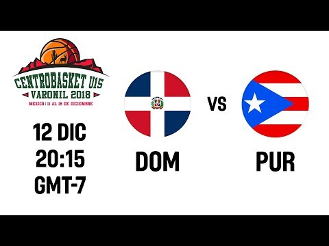 Dominican Republic V Puerto Rico - Full Game - Centrobasket U15 Championship 2018 Mp3