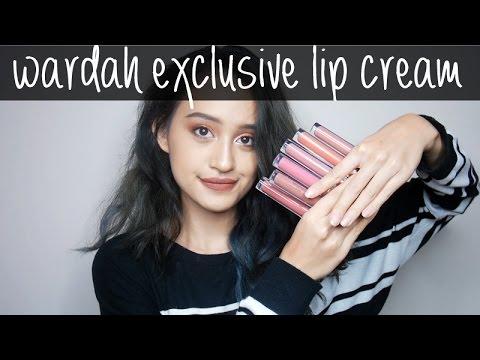 Wardah Exclusive Matte Lip Cream Swatches & Review | Nadya Aqilla