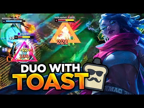 DUOING WITH TOAST AND SPAMMING SENNA! | League of Legends