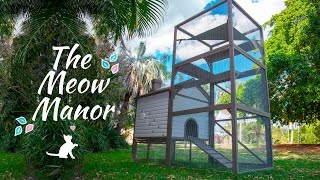 The Meow Manor - A Safe And Secure Outdoor Cat Enclosure!
