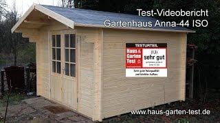 "Testvideo gartenhaus-gmbh.de ""Anna-44 ISO"" Aufbau"
