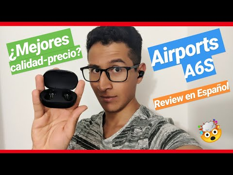 (UNBOXING -REVIEW) AURICULARES A6S TWS AIRDOTS BLUETOOTH 5.0 en ESPAÑOL