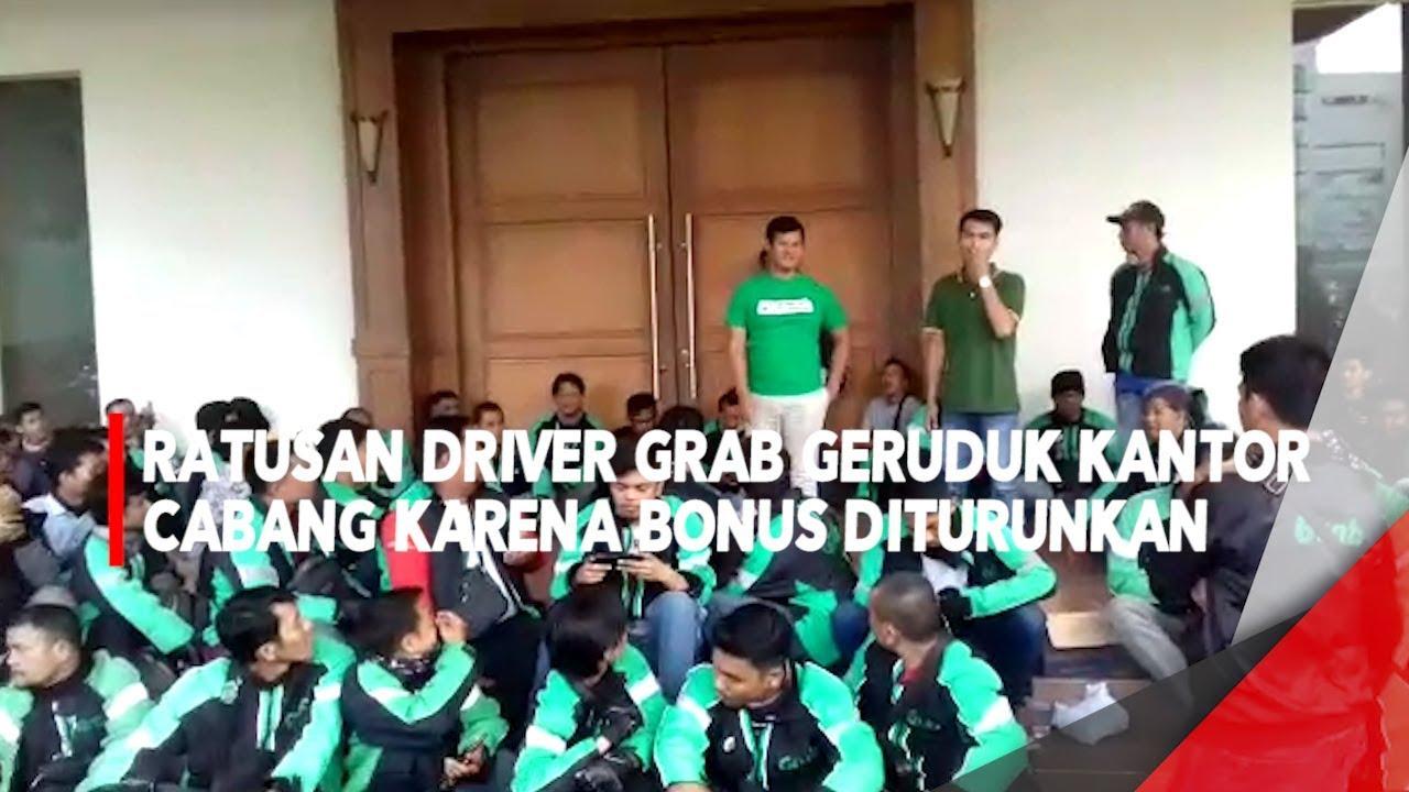 Ratusan Driver Grab Geruduk Kantor Cabang Karena Bonus Diturunkan
