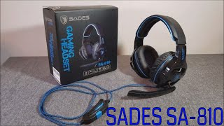 SADES SA-810 GAMING HEADPHONES OVERVIEW AND SOUND TEST