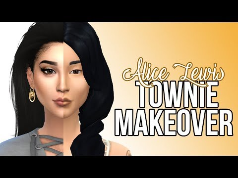 The Sims 4: Townie Makeover || Alice Lewis - смотреть онлайн