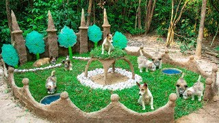 Building Dogs Muddy Playground Park And Clay leaf