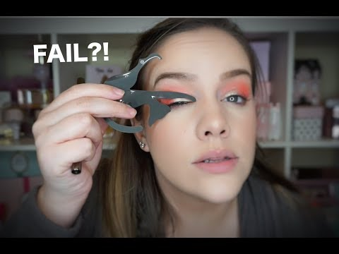 TESTING WEIRD BEAUTY PRODUCTS - CAT LINE EYE TOOL