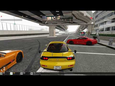 ASSETTO CORSA FREE ROAMING CRUISE POLICE CHASE | SKYLINE